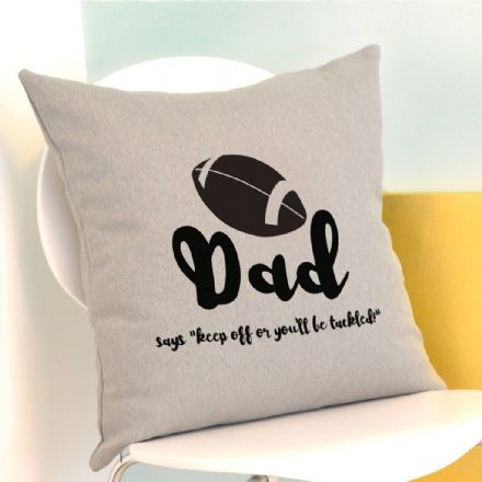 Personalised Rugby Cushion
